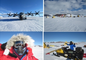 Arriving and life on the ice: Images: Antarctic Search for Meteorites Program / Katie Joy.