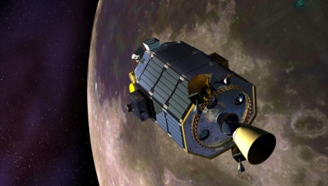 Artist impression of NASA's LADEE spacecraft orbiting the Moon. NASA / Ames Reseach Center / Dana Berry