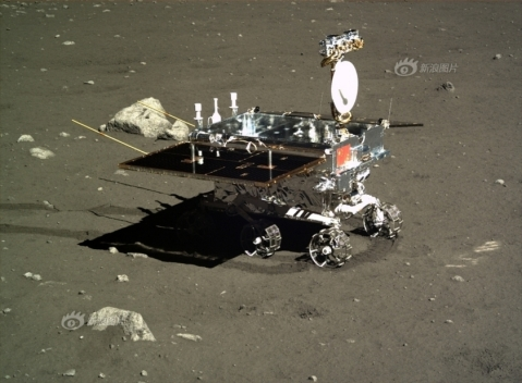 Image of Yutu/ Jade Rabbit taken by Chang'e 3.  Chinese Academy of Sciences